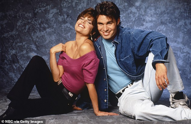 Soap stars: Rinna and Patrick, shown in a 1992 promo still, played brother and sister on Days Of Our Lives