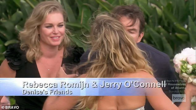 Famous friends: Rebecca Romijn andJerry O'Connell attended the wedding