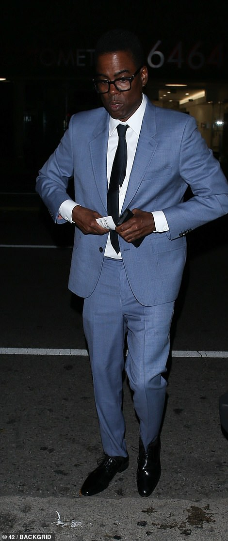 Suited and booted: Comedian Chris Rock