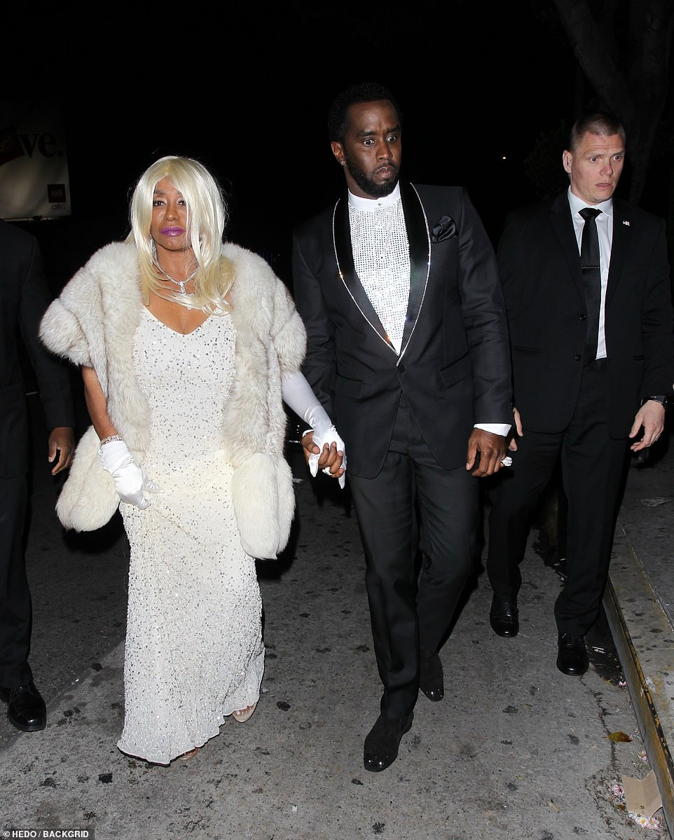 His number one as a plus one: Sean 'Diddy' Combs came in hand with his ultra glamorous mother Janice Combs