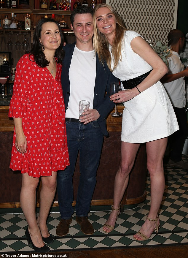 Friends: Jodie launched the new skincare range alongside Skin & Tonic founders Sarah Hancock and Joshua Wade