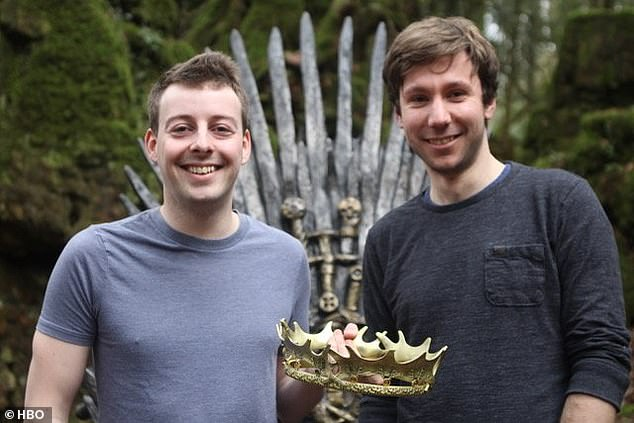 Reward: The two were presented with a golden crown to mark their discovery