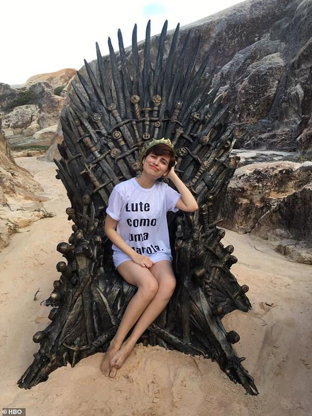 And in Brazil: A barefoot beachgoer was delighted to take a seat upon the Iron Throne