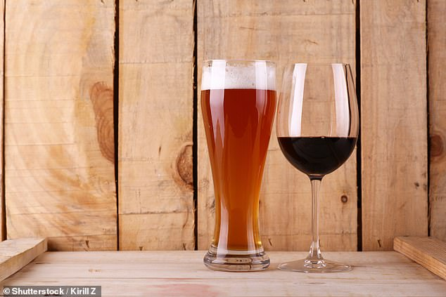 And the risk of cancer from downing three bottles of red or white wine each week, or 10 large glasses, is much higher