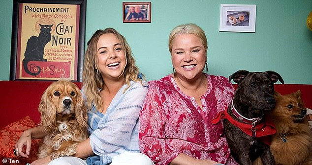 TV debut: Angie rose to fame in 2015 as one of the original cast members on Gogglebox Australia, alongside her housemate Yvie Jones (right), 45