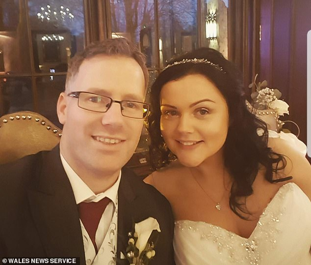 Mrs Smith, pictured with her husband Adam, 40, found out she couldn't have children of her own naturally when she was a teenager, because she had been born without a womb. However, she still has functioning ovaries