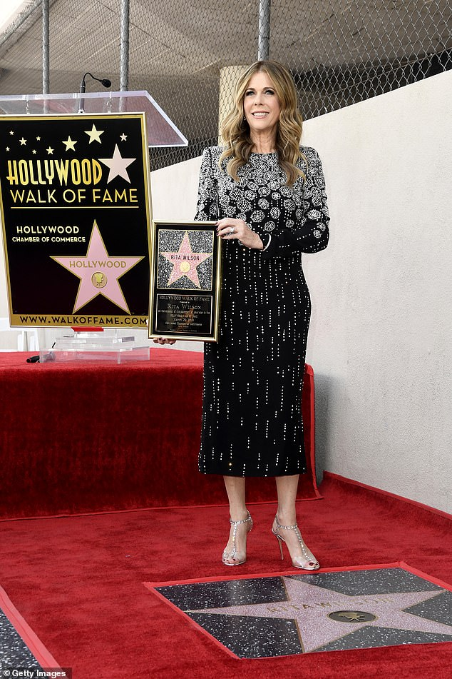 A plaque too: Stars who get on the Walk Of Fame are also given a plaque to take home