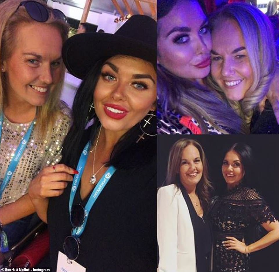 Her queen: Scarlett Moffatt wrote: 'To my absolute queen, my dancing partner, the other half to my car singing duets, the woman who I call first when I have good news, who I call for support during bad news, to my best friend... happy Mother's Day'