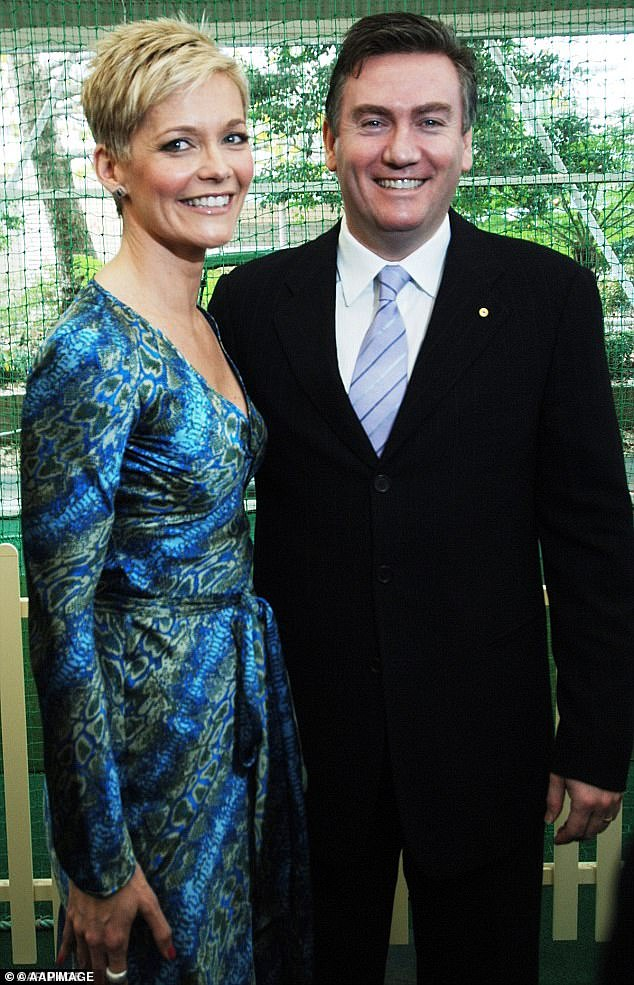 Headlines: In 2006, Channel Nine's then-CEO Eddie McGuire (right) allegedly asked fellow executives when he could 'bone' (i.e. sack) Jessica as co-host of the Today show.McGuire has since denied using the term 'bone' in the conversation