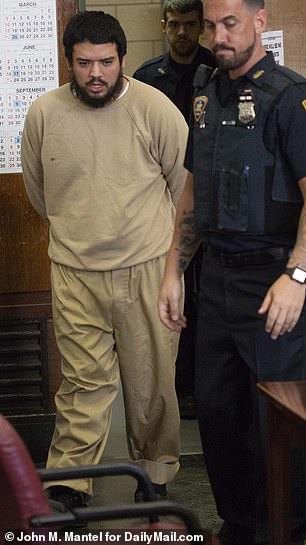 Alvarado entered his guilty plea in Manhattan Supreme Court two weeks ago on Monday April 1