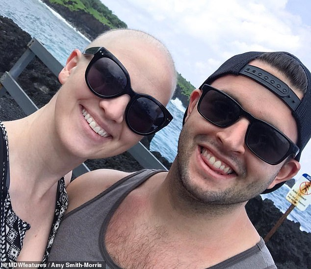 Dr Smith-Morris, pictured with her husband Marc in 2017, said having cancer made her put everything into perspective