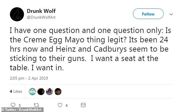 Los usuarios de Twitter no estaban convencidos por el principio de una crema de huevo en mayo, pero las mentes más curiosas tendrán que esperar hasta el 11 de abril para ver por sí mismos.