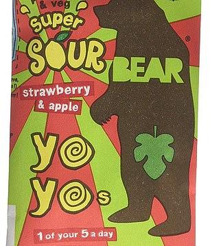 Super sour bears have 15