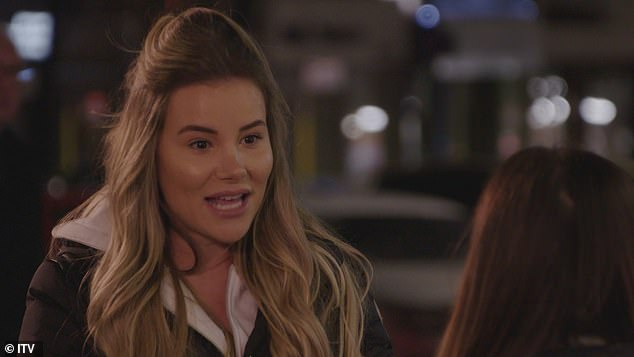 Fiery:Georgia Kousoulou, 27, launches into a fiery rant at Courtney Green, 23, in upcoming scenes of Sunday's episode of TOWIE