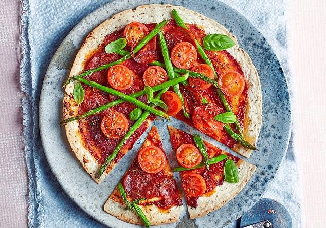Chorizo flatbread pizza: 280 calories per serving