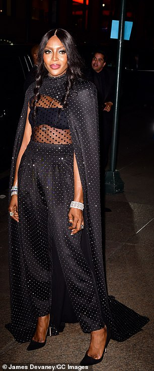 Evergreen: It made sense that the tastemaker who helped create 'heroin chic' made sure to invite iconic nineties supermodel Naomi Campbell