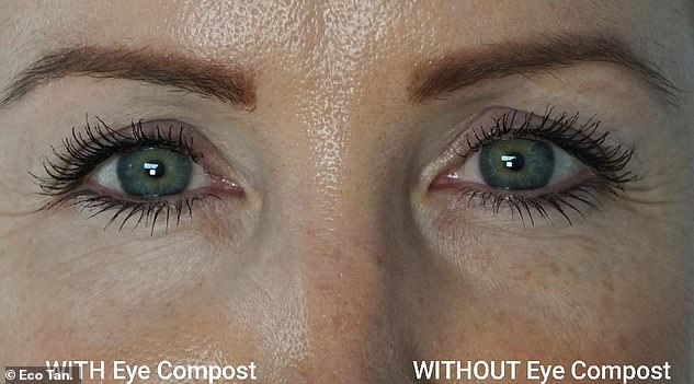 This woman saw a significant change in her dark circles and lines after three weeks of use on one of her eyes
