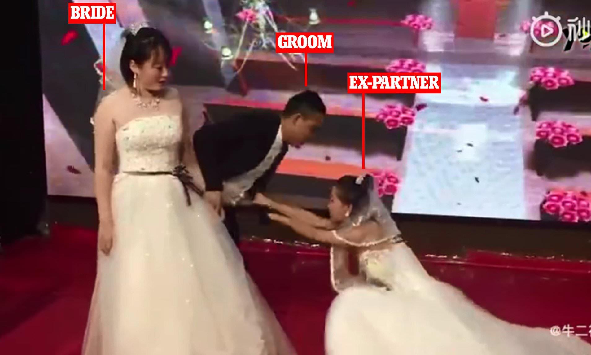 Bride Is Left In Shock After Her Grooms Ex Girlfriend