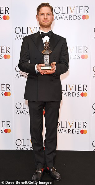 Winner: Kyle Soller won Best Actor for his role in The Inheritance at the Noel Coward Theatre