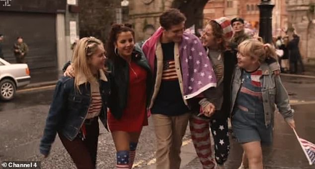 Delighted: The fans of Derry Girls cried on Tuesday after the final on Tuesday, after the much cursed James Maguire had decided to stay in Ireland