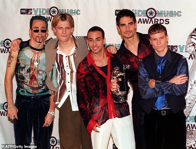 Blast from the past!The Backstreet Boys were formed in 1993 (Pictured at 1998 MTV Video Music Awards)