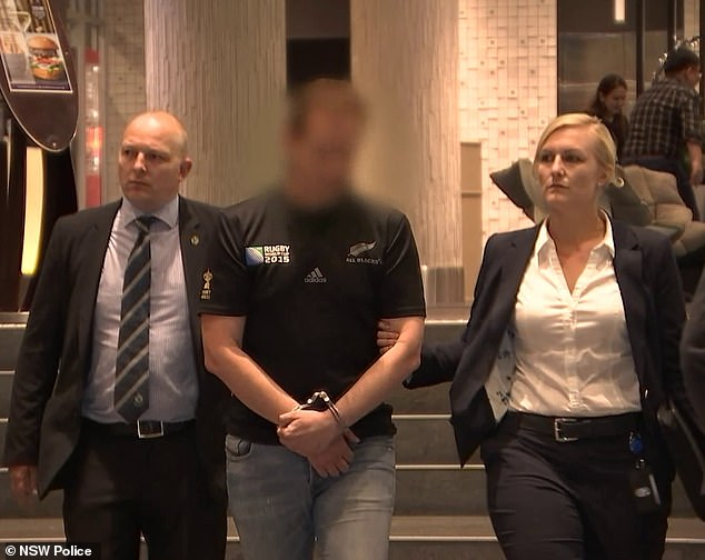 A doctor (centre) has been accused of organising to meet a mother and her 11-year-old daughter for a depraved threesome