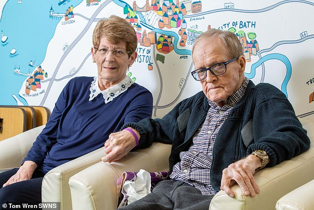 Since 2013 when he moved to Deerhurst care home in Bristol, Mr Garrity has lost the ability to speak to his wife because of his dementia and Parkinson's