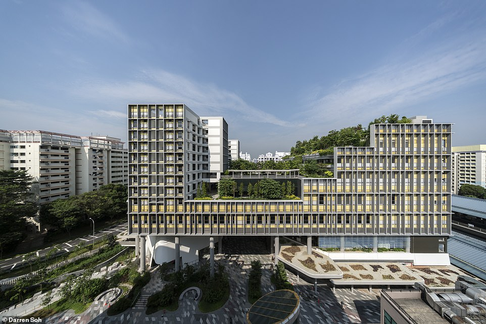 TheKampung Admiralty complex in Singapore, pictured, has been designed for retired people. It won the awards for best mixed-use building and for the best single site