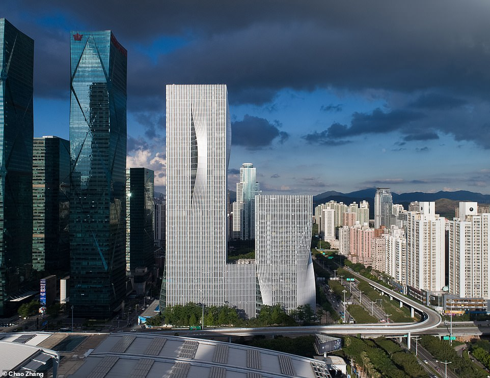 The judges were impressed with the oscillating facade of theShenzhen Energy Headquarters building, which was named best tall building between 200 and 299 metres
