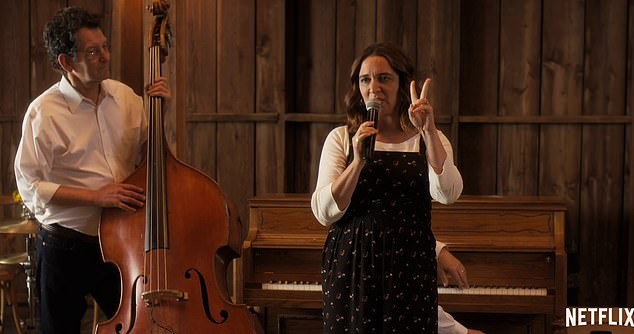 An angel: Maya Rudolph sings her heart out while on a drunken girl's weekend while Amy Poehler makes her directorial debut in the new trailer for Wine Country