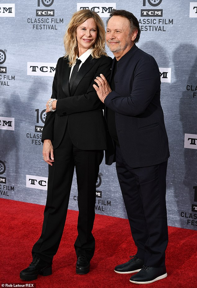 Meg and Billy: The stars turned up on Thursday to honor When Harry Met Sally, as well as enjoying a reunion with their fellow actors