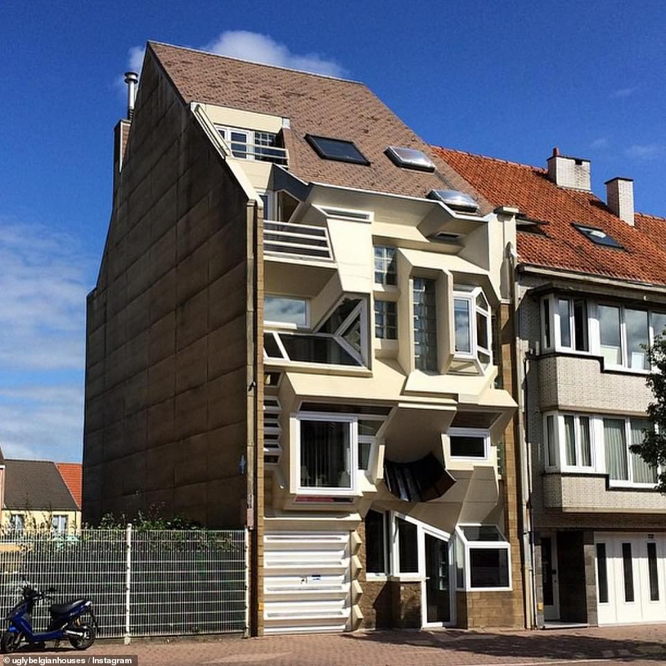 One of the fans of the account Ugly Belgian Houses commented on this picture, sarcastically writing: 'This house could use a few more windows'