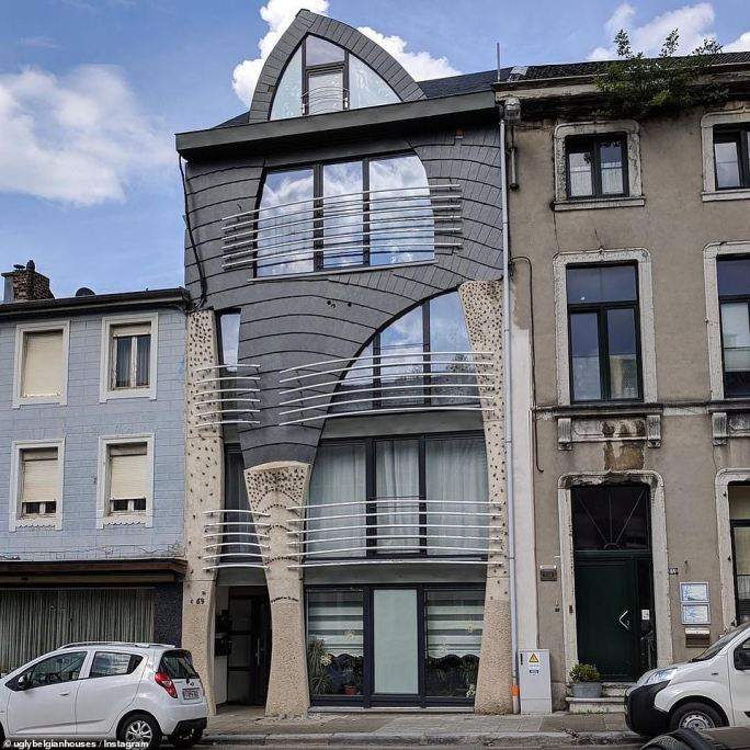 Hannes puts the large number of bizarrely designed homes in Belgium down to the fact the country has liberal laws when it comes to house building