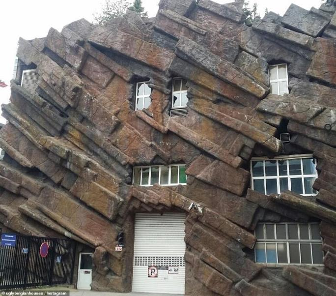 Rock on: This unusual-shaped house has been given the caption 'Game of Stones'