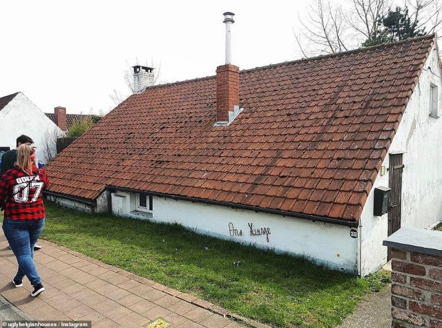 Well, at least roof repairs are easy to carry out on this hilariously odd construction...