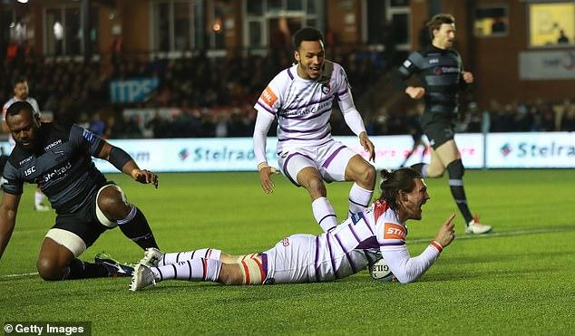 Guy Thompson scored twice as Leicester edged towards Premiership survival