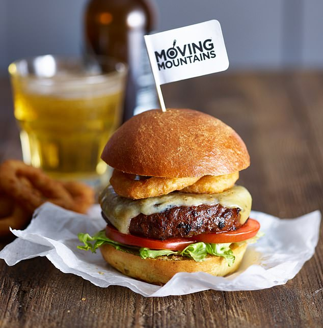 The Moving Mountains burger is among a new wave of meat-substitute products said to look, smell and taste just like the real thing. They have same texture in the mouth as minced beef, say manufacturers
