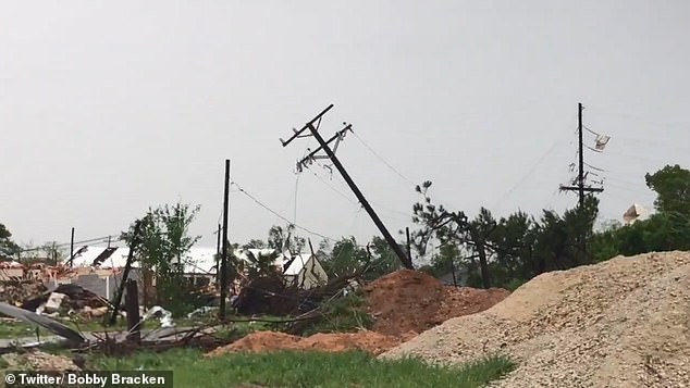 The storm ripped through the community, which is about 30 miles north of College Station