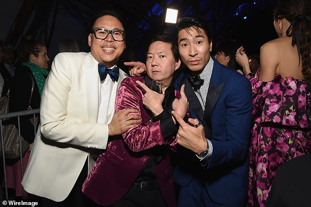 Career-changing: 'I was meeting with some of my cast mates recently and we were saying we are at the point where we have the luxury of picking and choosing gigs,' he said (pictured right with co-stars Ken Jeong centre and Nico Santos left)