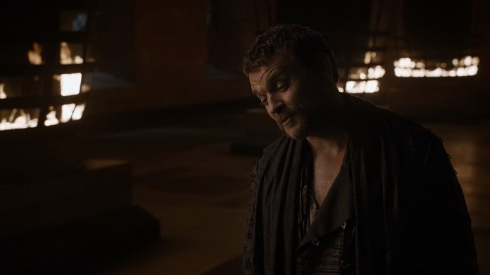 Euron's wish:When he persists, she says he's executed men for less, but he tells her they were lesser men, and while she turns to leave, she stops, allowing him to join her, as Euron gets his wish after all