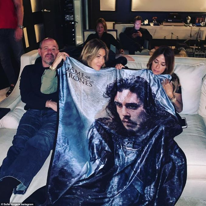 Screening party: Modern Family star Sofia Vergara shared snaps from her Game Of Thrones screening party