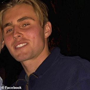 Harvey Tilley, 18, is the son of socialite Tiffany Tilley and her ex-husband Ben Tilley