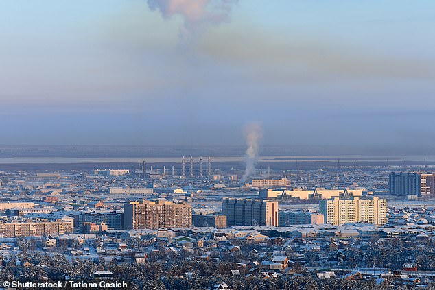 The city ofYakutsk pictured) in the region of Yakutia in Siberia, known as the coldest city on earth where temperatures can reachbelow -60°C in the winter. It may be revealing its long-frozen secrets due to warming Arctic temperatures that could risk an epidemic being unleashed