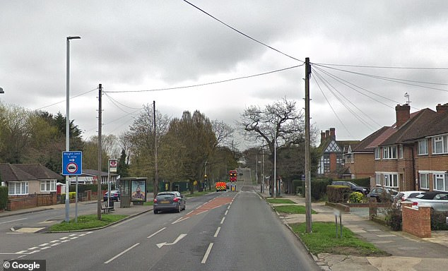 Mr Barreto was stopped by police who said he filmed the aftermath of a crash on this street