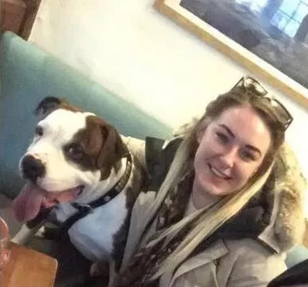 The owner of a dog that mauled a boy to death at a holiday park in Cornwall has been named as nail technician Sadie Totterdell, 28, pictured with a similar dog