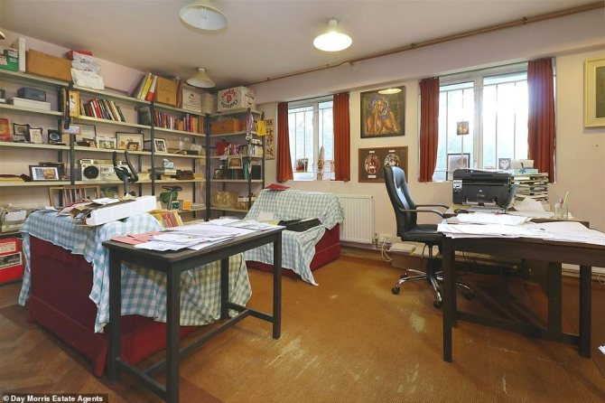 It's multipurpose study used to be a table tennis room and has eight ceiling light fittings to illuminate the table where the current owner's father used to play every Friday until his death