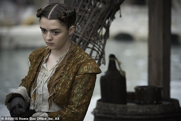 """Difficult: Above all, the HBO star admitted when she entered puberty that she had to wear an uncomfortable harness to keep her chest flat while her character """"pretended to be a boy""""."""
