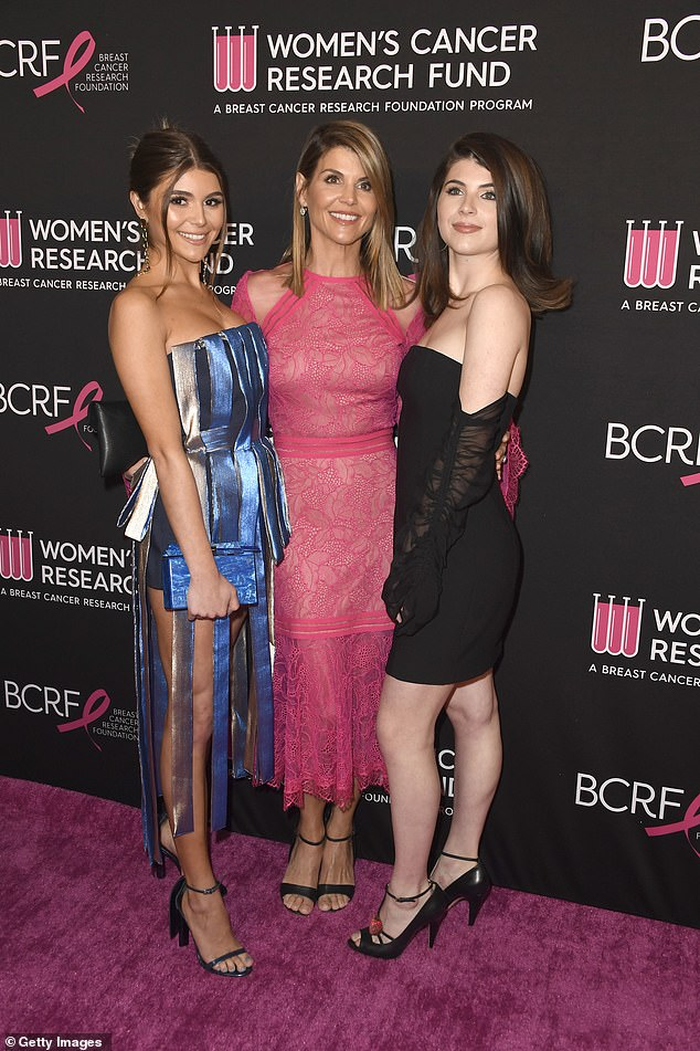 Olivia Jade Giannulli, (pictured left) Lori Loughlin (center) and Isabella Rose Giannulli (pictured right) attend an unforgettable evening on February 28 at the Beverly Wilshire Four Seasons Hotel