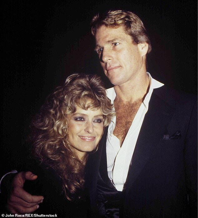 Crazy romance:O'Neal and superstar Fawcett never legally married, but they were an item from 1979 to 1997. Pictured together in 1981
