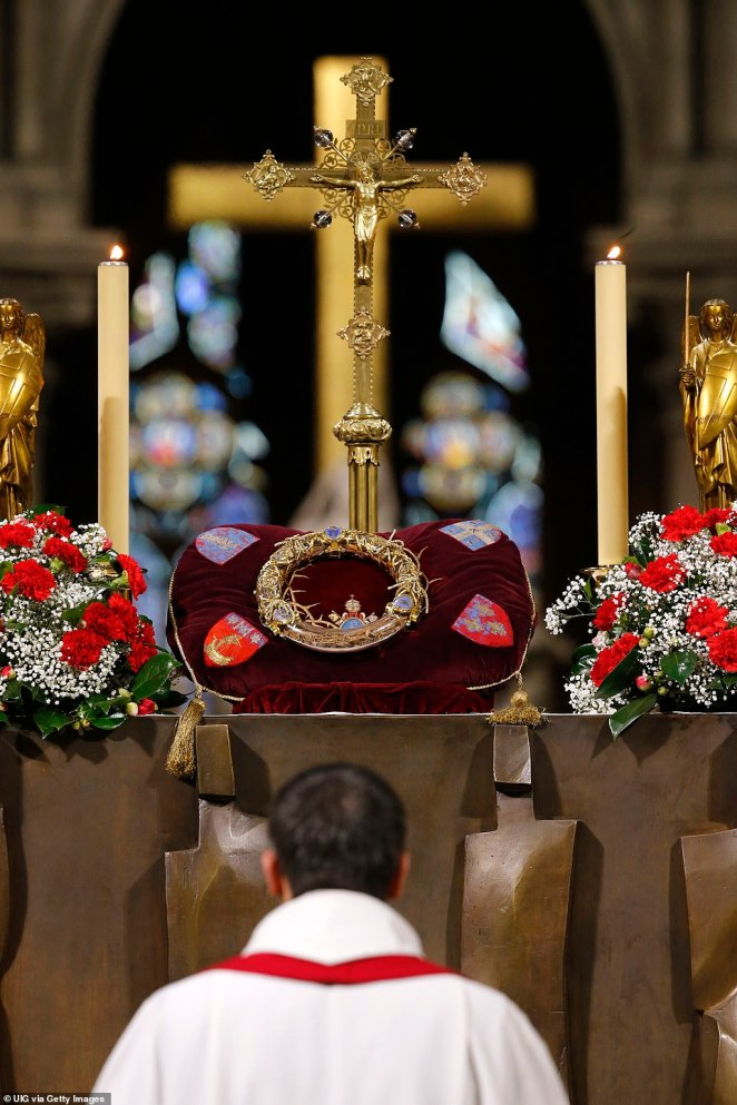 Notre Dame de Paris is home to the relic accepted by Catholics the world as the holy crown of thorns worn by Jesus Christ on the cross